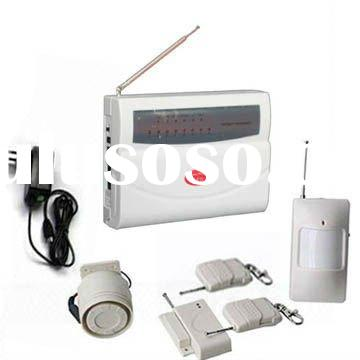 Eight zones wireless burglar alarm system for home or office