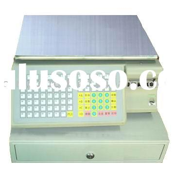 Electronic scale with label printer