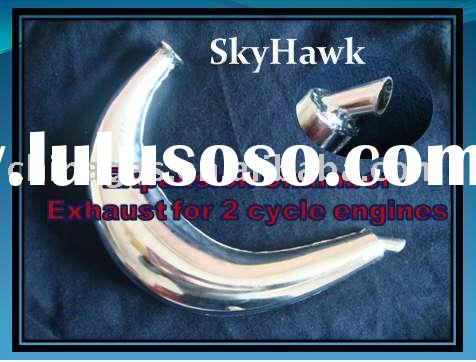 Expansion Chamber Exhaust for 2 cycle bicycle engine kit