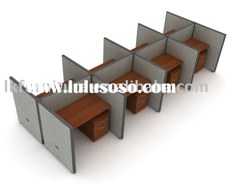Fabric Finished Office Partition Wall Call Center Workstation