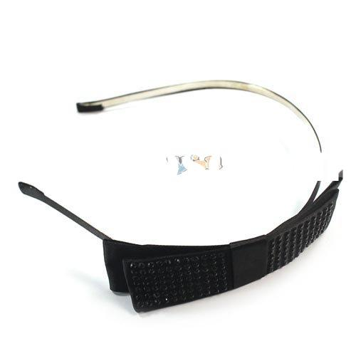 Fashion Crystal Thin Wide Thin Edge Of The Black Bow Black Hair Bands
