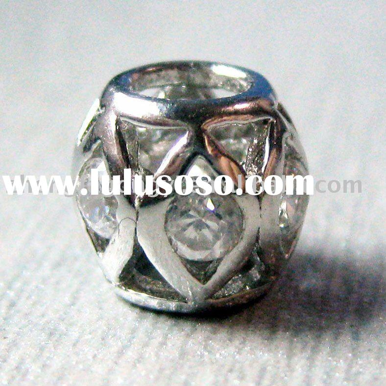 Fashion Jewelry/925 Sterling Silver Pandor Bead with CZ