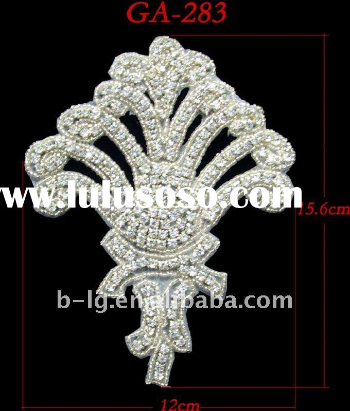 Fashion crystal rhinestone trimming for party and wedding dress
