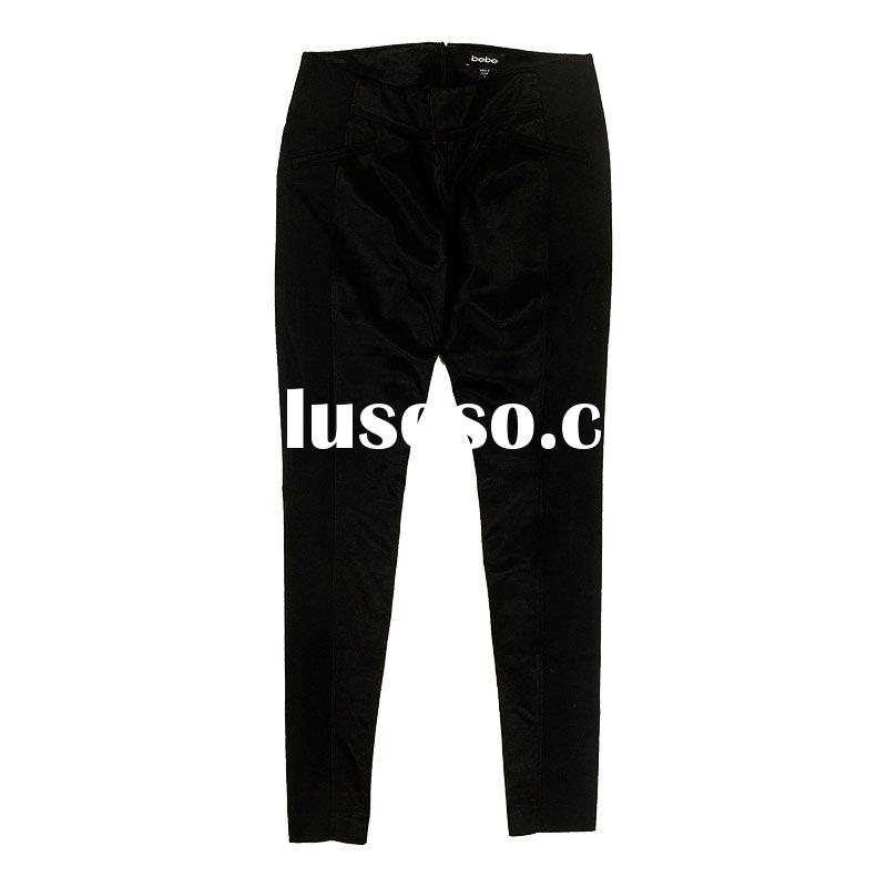 Fashion silk pencil pants , slim Fit trouser [cd0909]