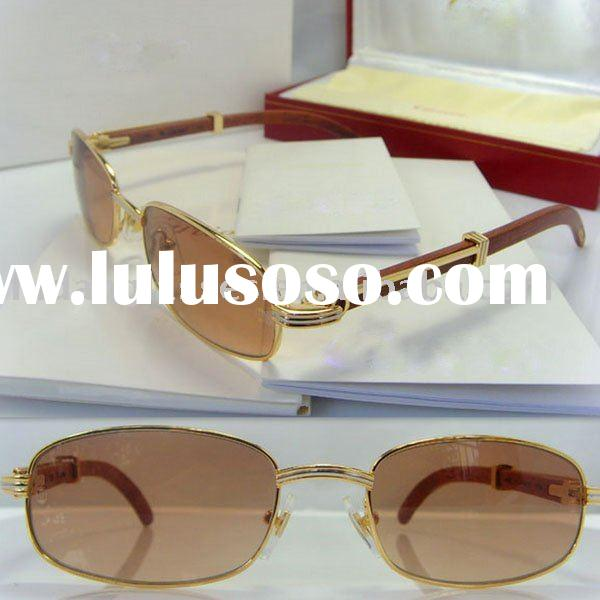 Fast&Free shipping name brand sunglasses wood sunglasses popular sunglasses Original CT548 gold