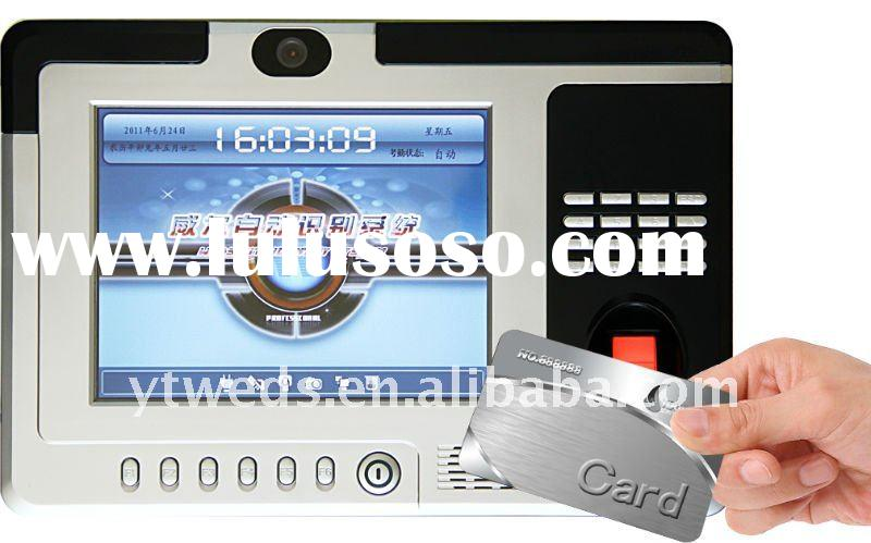 Fingerprint attendance machine and punch card with Camera & LCD