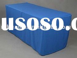 Fitted tablecloth polyester table cover for banuqet or wedding/party
