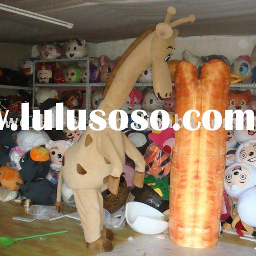 Foam/Plush/Fur Giraffe Mascot Costume