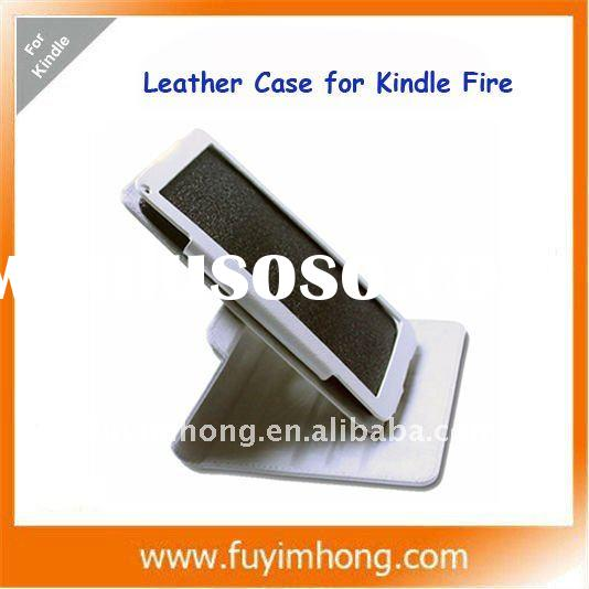 For Kindle Fire leather case 360 degree swivel