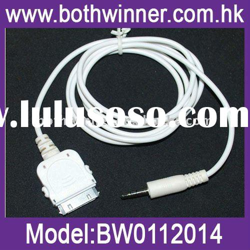 For apple connector to audio 3.5mm aux connector cable