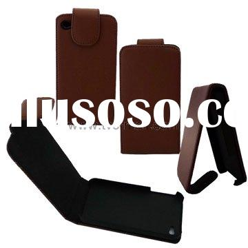 For iPhone 4 Belt Clip Leather Case with Rubber Inner Padding
