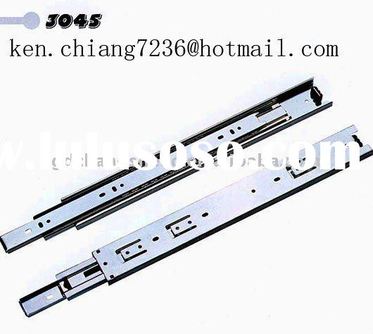 Foshan hiqh quality furniture hardware accessory 45mm 3-fold full extension ball bearing drawer slid