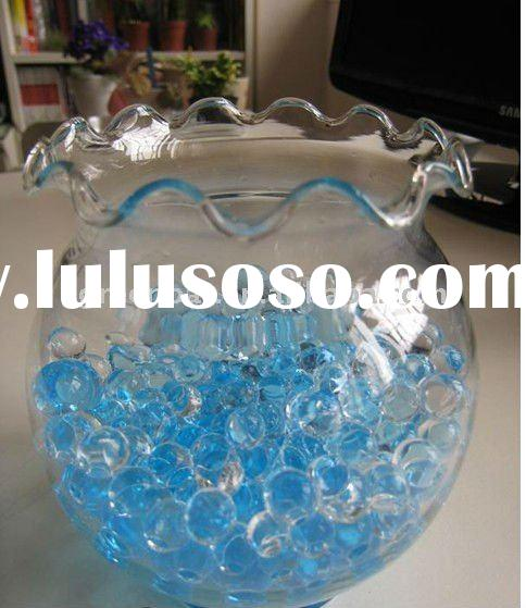 Fragreen water beads in fish bowl for entertainment
