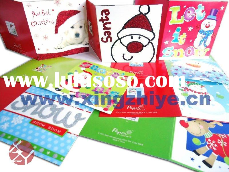 Full color folded Christmas cards