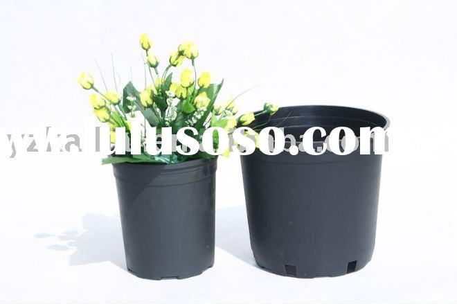 Gallon black plastic flower pot-1#