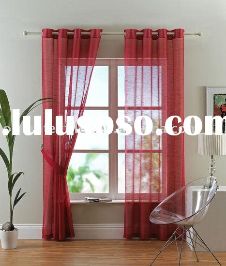 Grommet panel curtain