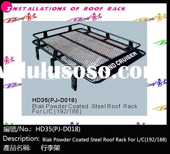HD35(PJ-D018) black powder coated steel roof rack for LAND CRUISER FJ80