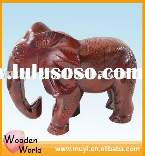 HOT SALE/wood animal crafts/ wood carving elephant/Home decoration/Collection value