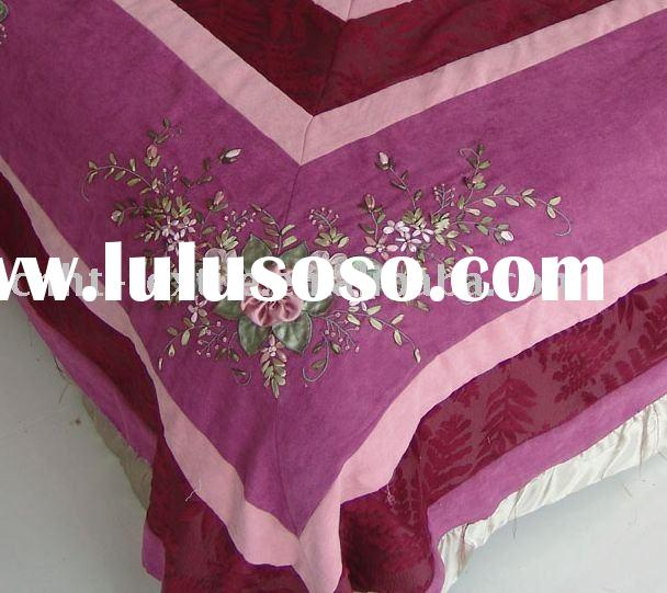 HOT! ribbon embroidery bedding sets