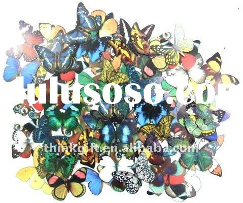 Handmade paper 3d butterfly stickers for scrapbook embellishments,paper cutting butterfly,3d handmad