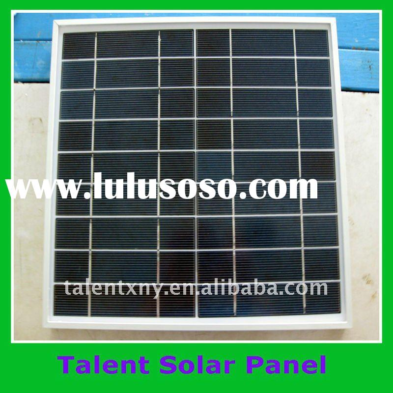 High Efficiency monocrystalline Solar Panel of 30w with CE, TUV Certifications