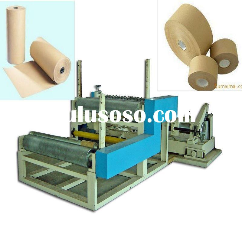 High Speed Automatic Kraft Paper Roll Slitting and Rewinding Machine