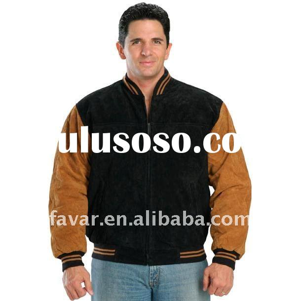 High quality Classic Two Tone Baseball Bomber Jacket