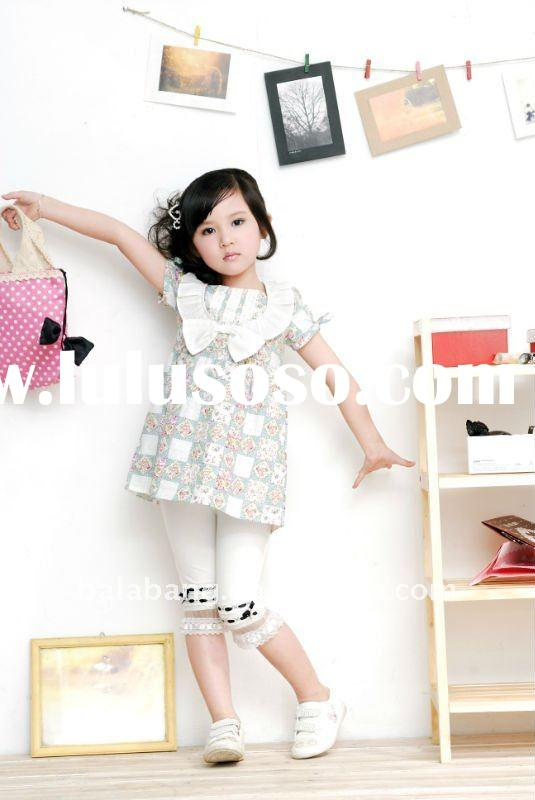 High quality fashion kids clothes -girls tops for spring and summer