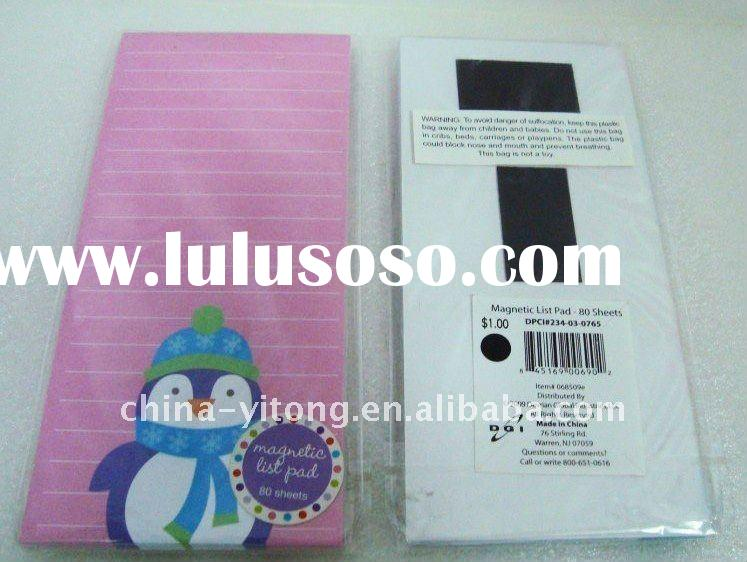 High-quality promotional custom refrigerator magnet with notepad