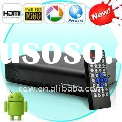 High quality wireless Android2.2 TV box Google TV box IPTV 1080P HDD Media Player set top box