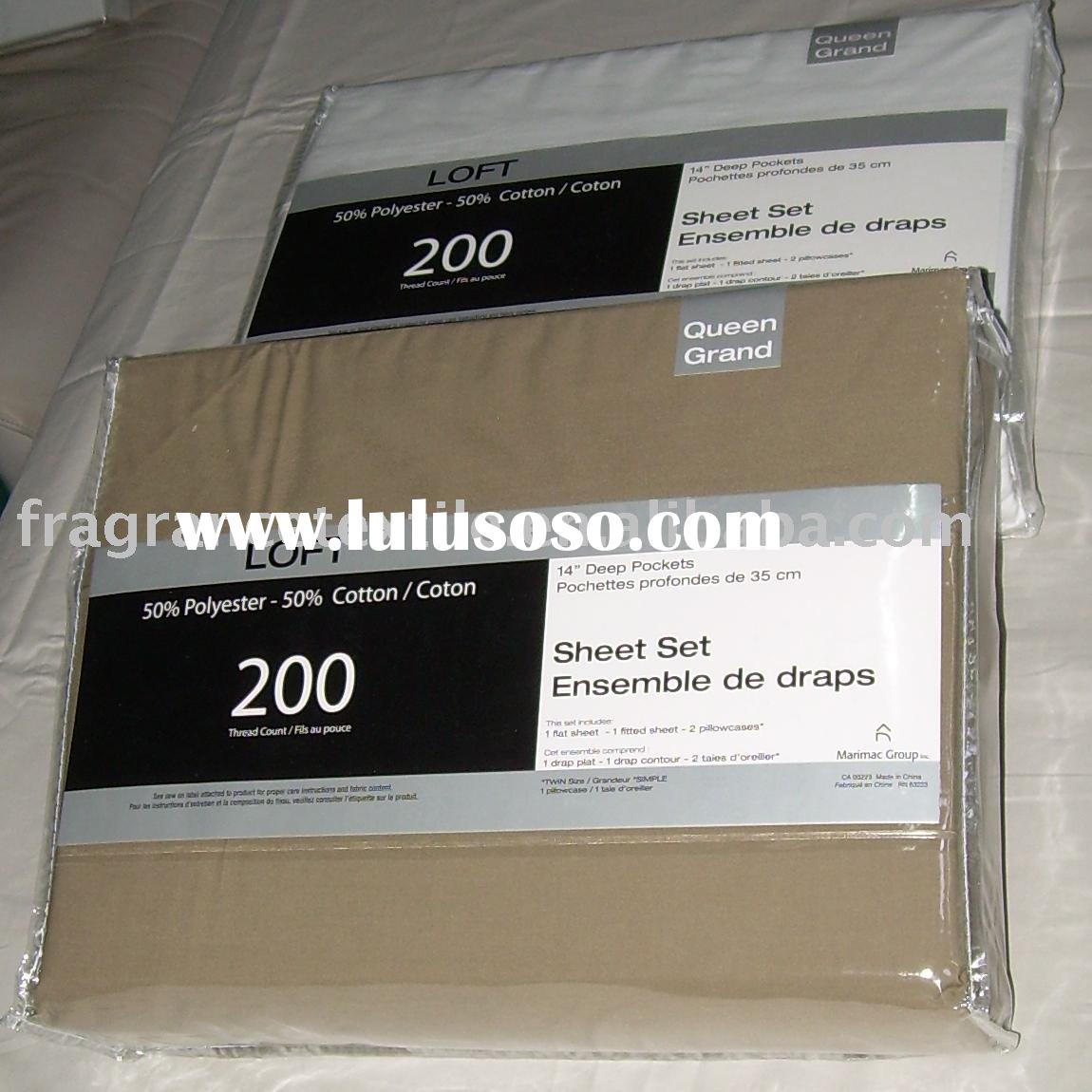 Home /Hotel Use T200 50% Cotton and 50% Polyester Sheet Set