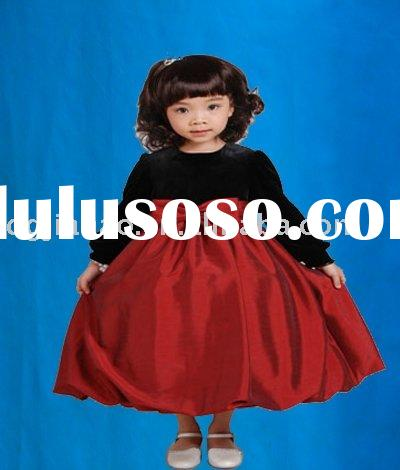 Hot Sale special for spring long sleeves velour Chinese red kid clothes H8042
