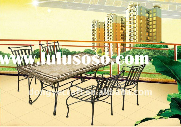 Hot Sell Outdoor Furniture Marble Table And 4 Chairs YT680816