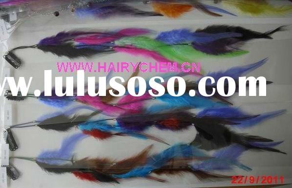 Hot sale!! fashion colorful hair feathers with clips wholesale ( HC-1011),Paypal
