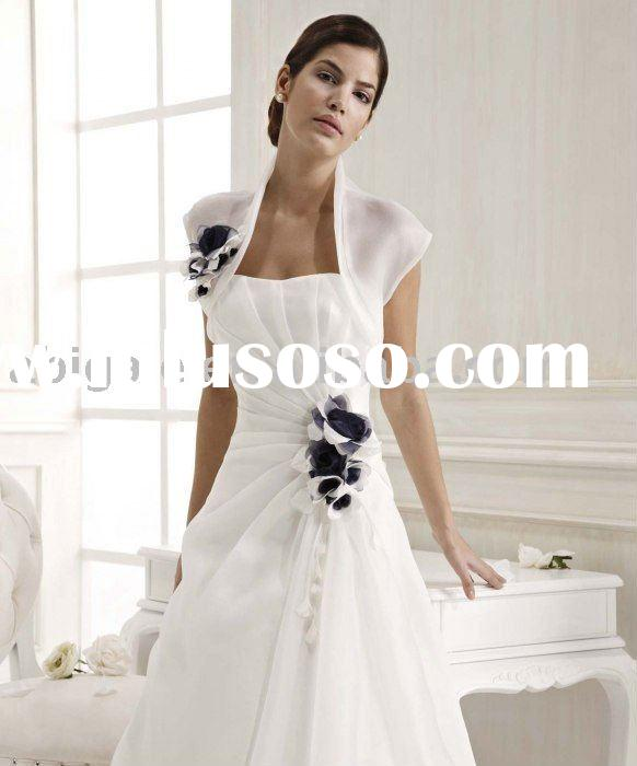 Hot sale high quality simple design 2011 wedding gown