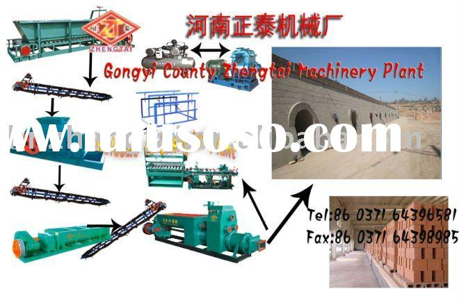 Hot sale in India!! red clay bricks making machine line