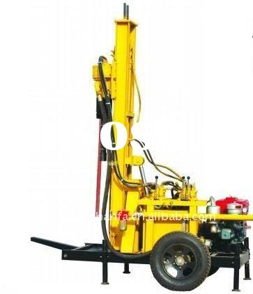 Hot selling ! High efficiency! easy movement HF150A small air DTH water well drilling rig