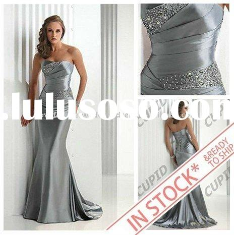 IN STOCK 2011 Elastic Silk Hot Sale Formal Evening Dress