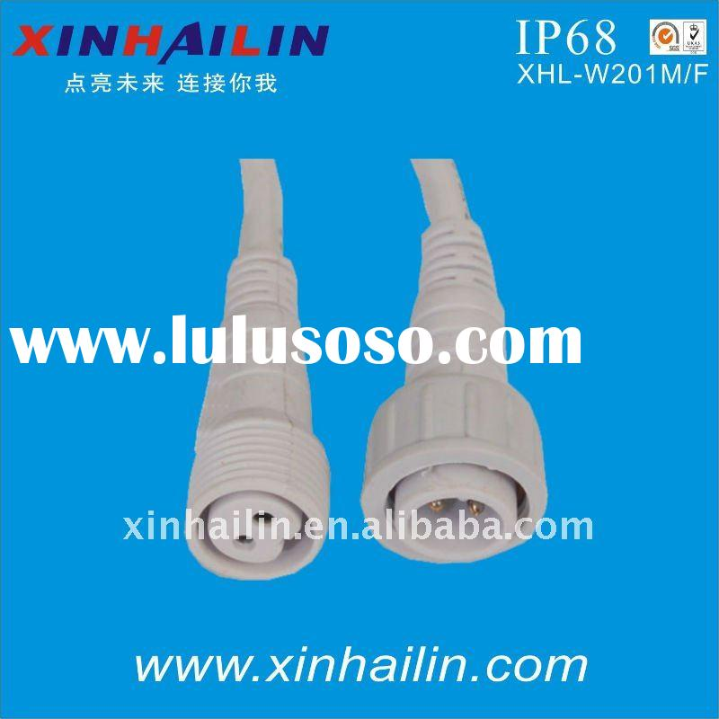 IP68 2pin male female waterproof electrical connector