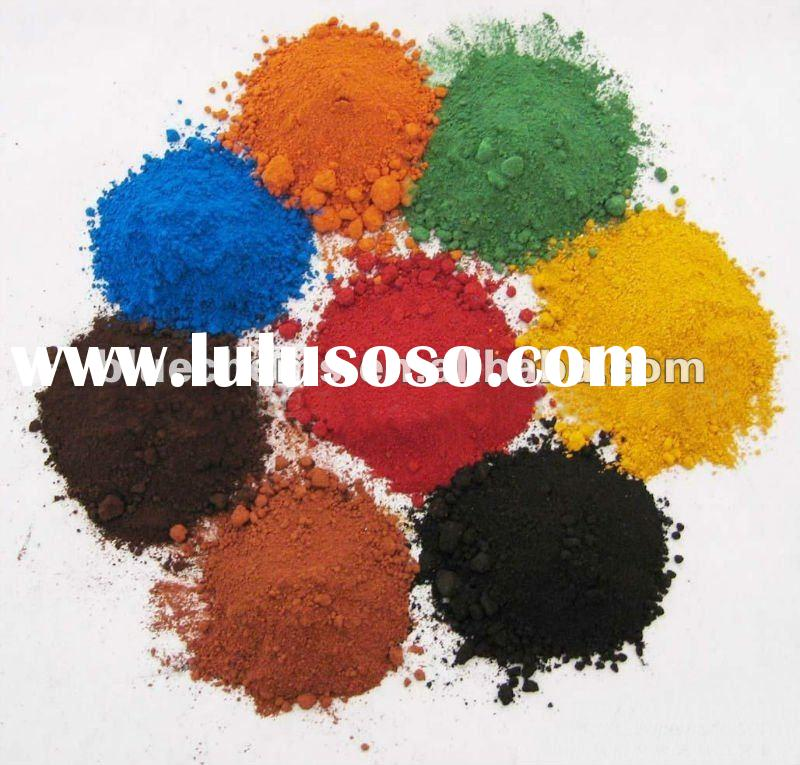 Iron Oxide blue, green, red, yellow, black pigments