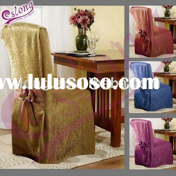 Jacquard Polyester Dining Room Chair Cover