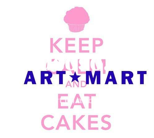 Keep Calm and Eat Cakes Wall Sticker, Wall Decal, Wall Mural