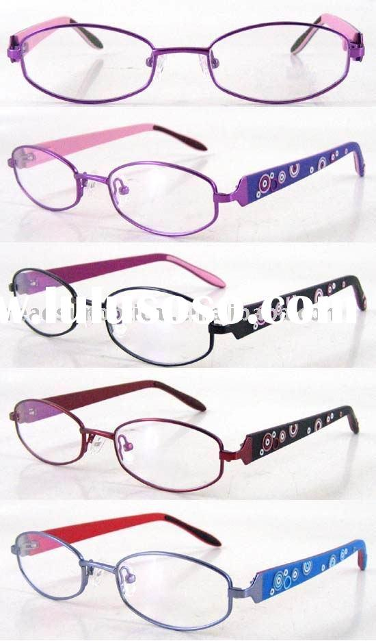 Kids Glasses Rubber Temple with Circle Pattern (OMK120027A)
