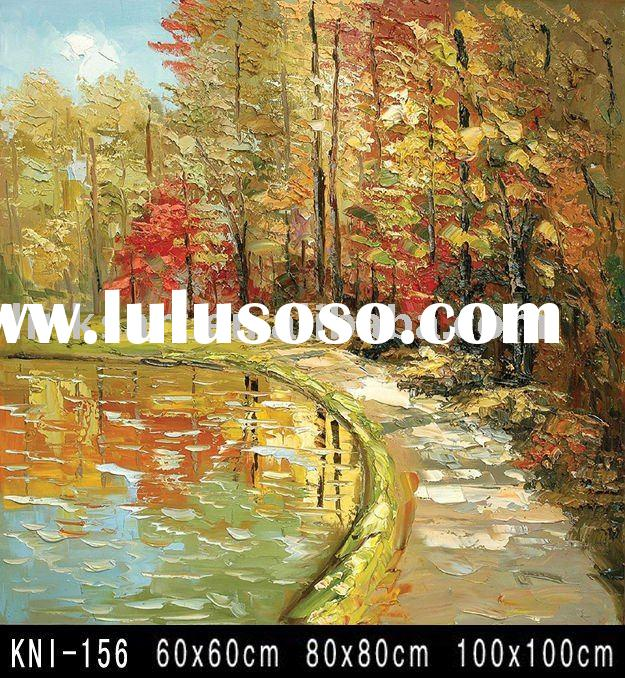Knife Texture Oil Painting -Tree Landscape Painting