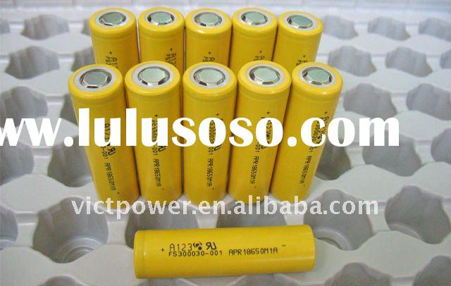 LIION battery cell A123 18650 cells 1100mAh cells Rechargeable