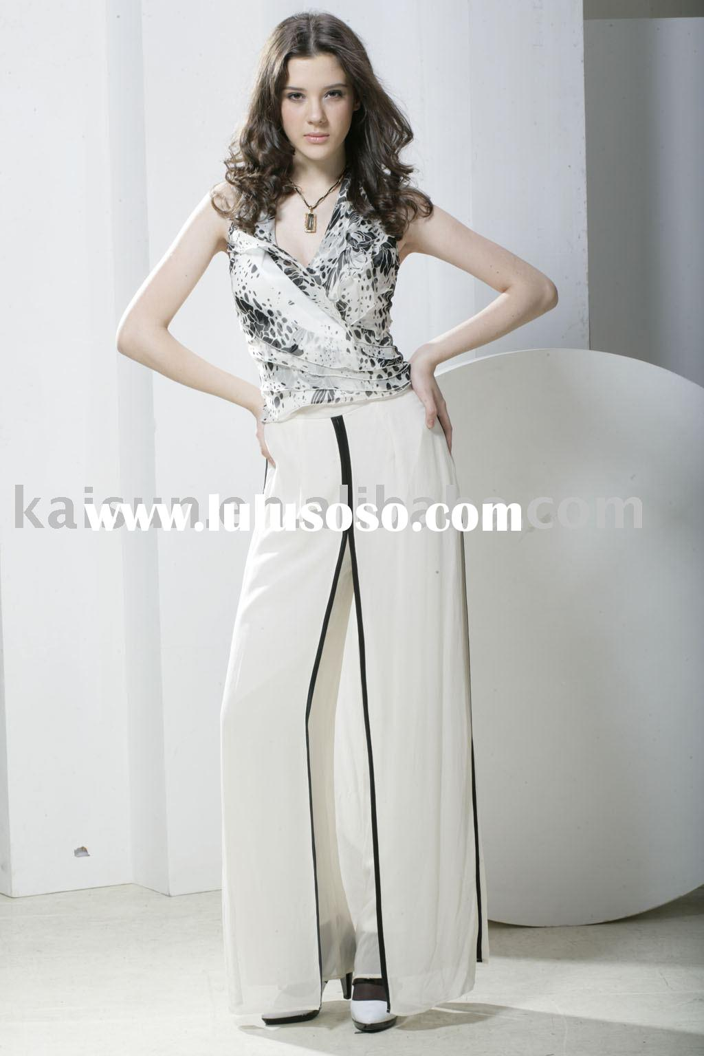Ladies'100%silk fashion women pants