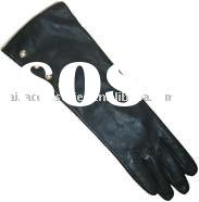 Ladies Long Sleeve Leather Glove With Metal Studs (Sheep Nappa)