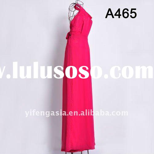 Lady Casual Maxi Chiffon Dress( also can change to printed one)