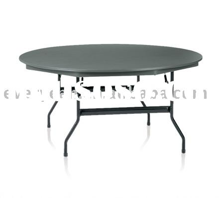 LightWeight ABS plastic folding table with Round or reg