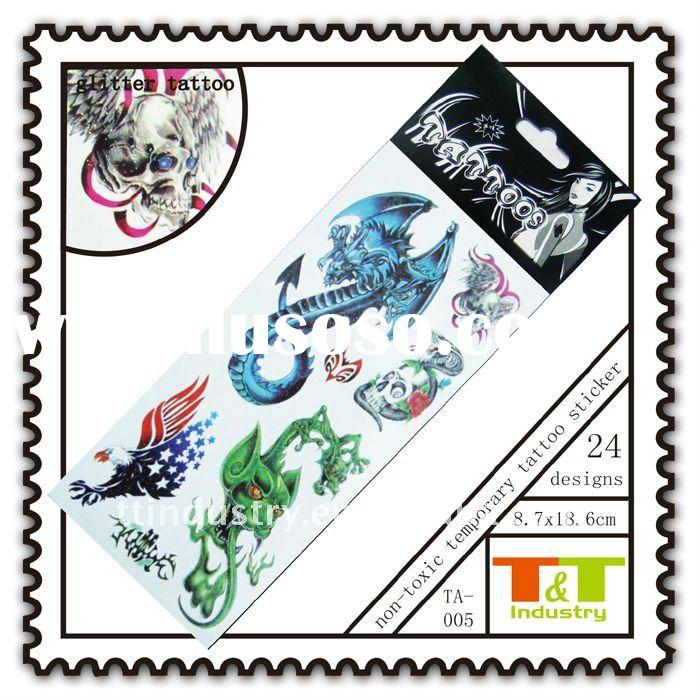 MAGIC SKULL GLITTER WATERPROOF TATTOO STICKERS